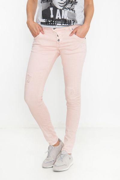 BLUE MONKEY Skinny Fit Jeans mit Abriebstellen Manie 1843