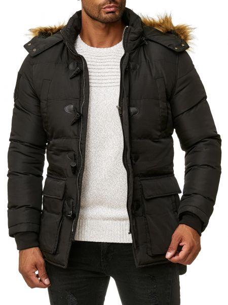 BLACKROCK Jacke mit Knebelverschlüssen und Fellimitat