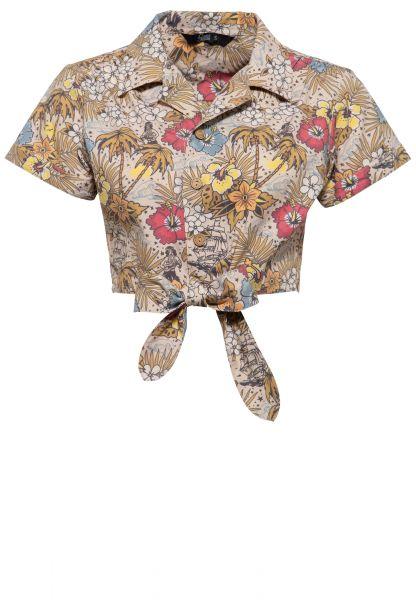 Bluse mit hawaiianischem Muster