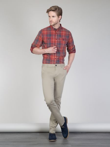 COLINS Chino Hosen Garment Dyed Slim Fit