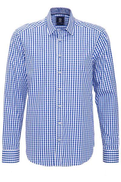 GABANO Langarmhemd mit feinem Karomuster