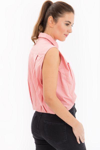 MEXX Bluse mit Hemdkragen ohne Arm