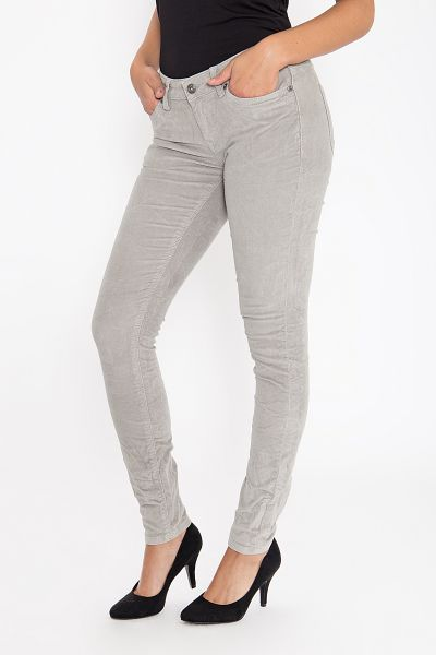 BLUE MONKEY Cordhose in Skinny Fit mit Crinkle Effekt Honey