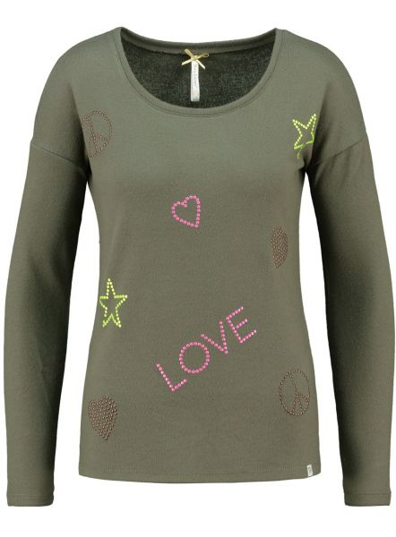 KEY LARGO Damen Longsleeve WLS HAPPY round