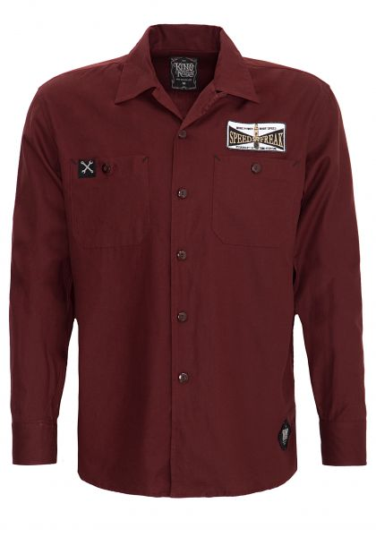 KING KEROSIN Hemd im Workwear mit Stickerei im Rücken