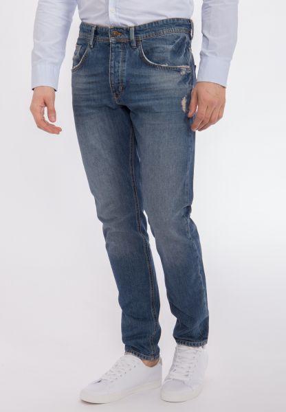 MEXX 5 pocket Jeans mit tiefem Schritt und destroyed Effekten