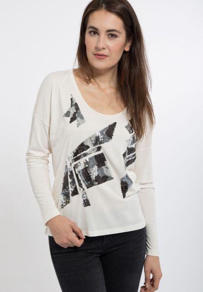 MEXX Glamouröses Langarmshirt mit Paillettenbesatz