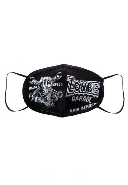 Schutzmaske mit kontrastierendem Frontprint »Zombie's Garage«