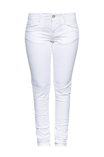 WAY OF GLORY Damen Slim Fit Jeans mit leichten Destroyed Effekten