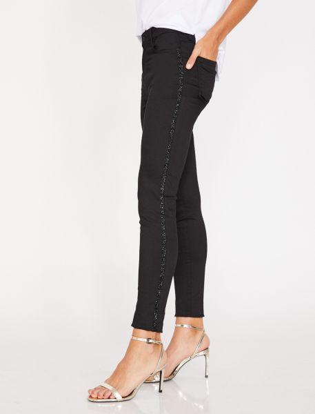 KOTON 5-Pocket-Jeans mit Glitzerstreifen in der Seitennaht Kate