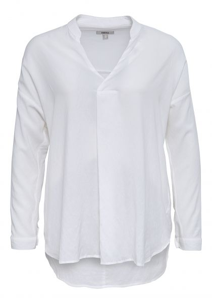 MEXX Langarm-Shirt mit Serafino-Ausschnitt in Wickeloptik
