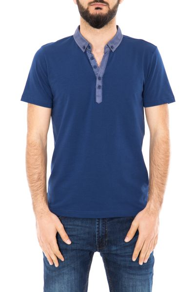 DANIEL DAAF Poloshirt mit Button Down Kragen