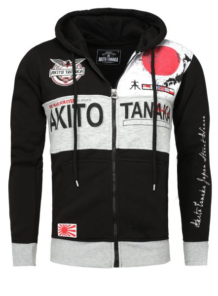 AKITO TANAKA Kapuzensweatjacke mit Applikationen Japan Sweat