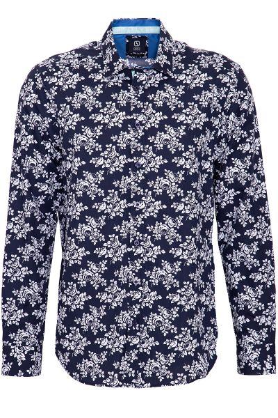 GABANO Langarmhemd mit feinem Blumen-Muster