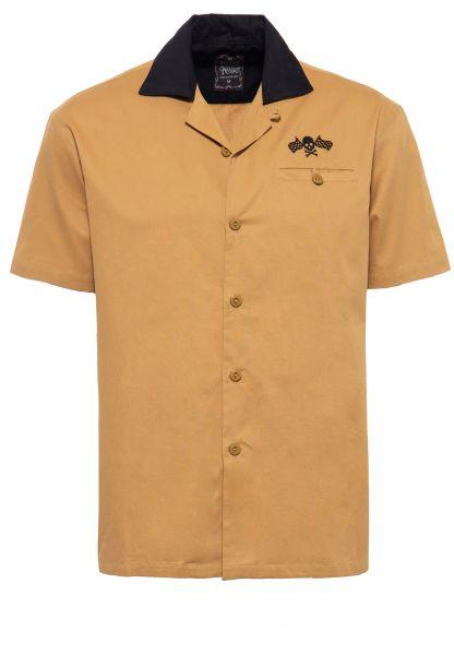 Kurzarm-Hemd im Bowling Style mit Kontrastkragen