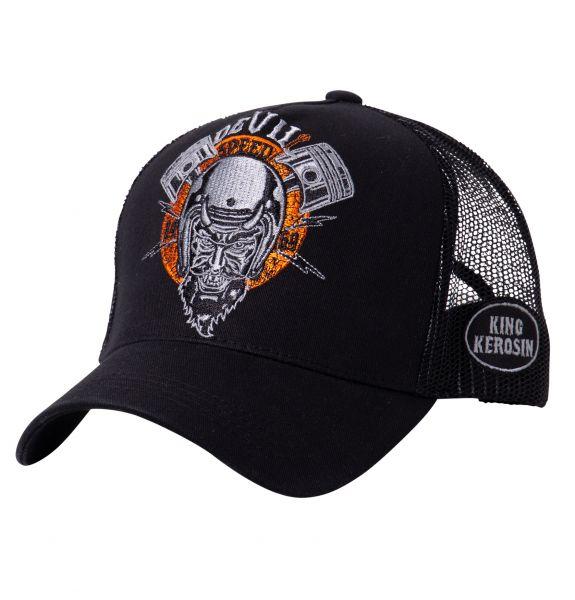 KING KEROSIN Trucker Cap mit rebellischer Front-Stickerei Devil Speed