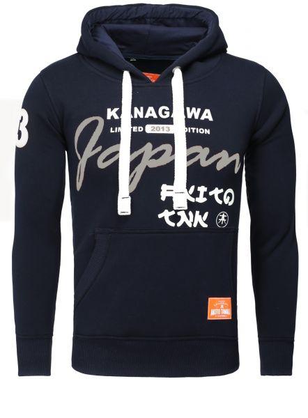 AKITO TANAKA Kapuzenpullover mit Front Print und kontrastigen Kordeln Kanagawa 13