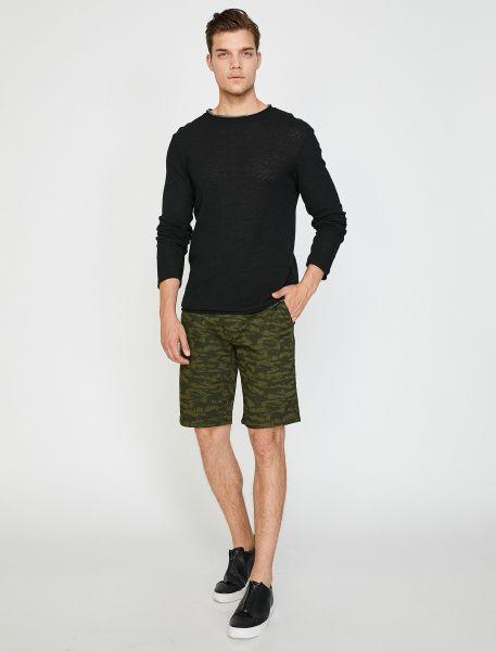 KOTON Shorts mit Tarnmuster