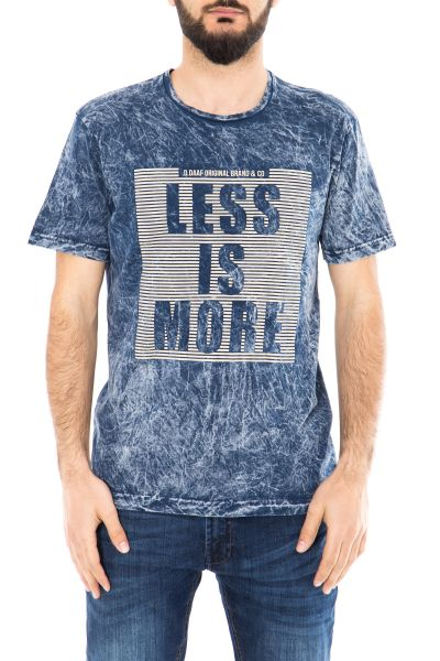 DANIEL DAAF Shirt mit Vintage Waschung und 3D Print