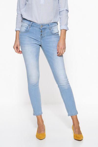 ATT JEANS Slim Fit Jeans mit halb verdeckter Knopfleiste Delia