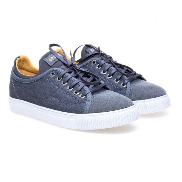 GREYDER Modischer Sneaker im Pigment Dye Look mit Neopren Details