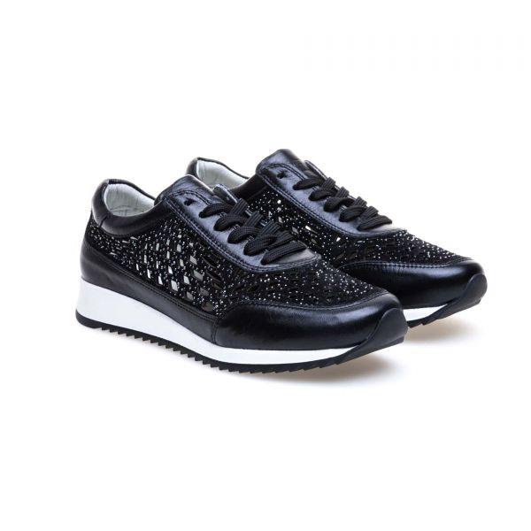 GREYDER Sneaker mit Cut-Out Muster und Ziersteinen