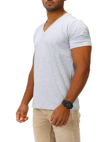 Joe Franks Herren Basic T-Shirt V-Neck