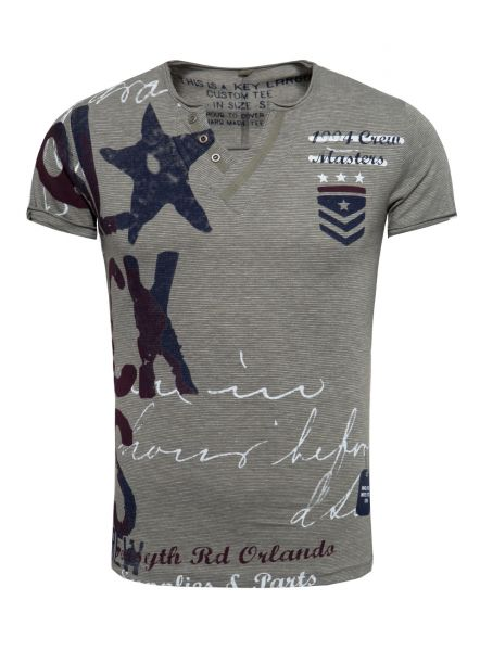 KEY LARGO Herren T-Shirt MT00199 button