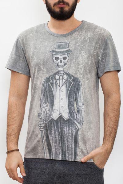 WAY OF GLORY  T-Shirt mit Mr. Skull Print