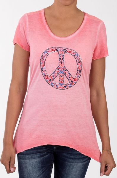 BLUE MONKEY T-Shirt mit Front Applikation Peace