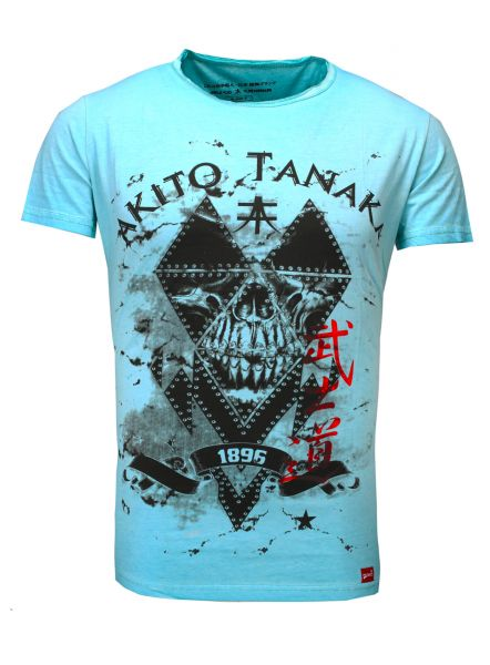 AKITO TANAKA T-Shirt mit coolem Printmotiv vorne Skull Soldier