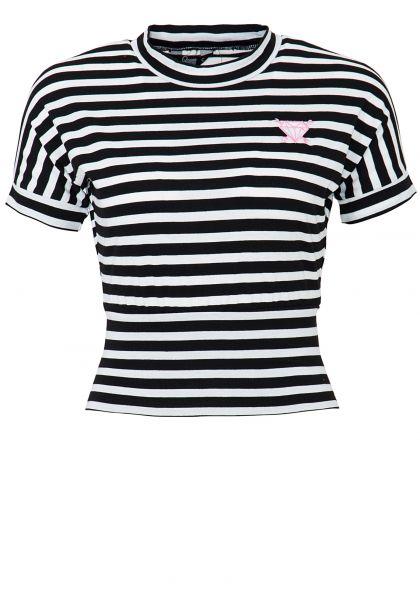 QUEEN KEROSIN Cropped Shirt mit Streifen
