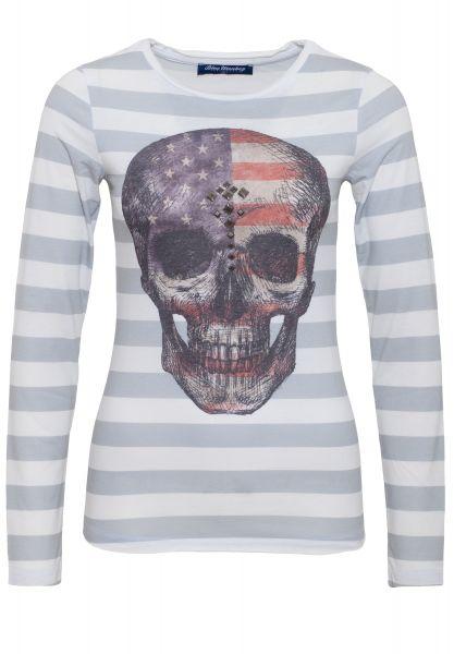 BLUE MONKEY Longshirt mit Fotodruck mit Streifen Alloverdruck Skull Style 5 18-3518