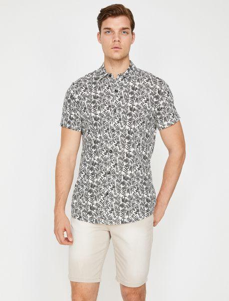KOTON Kurzarmhemd mit abstraktem Muster