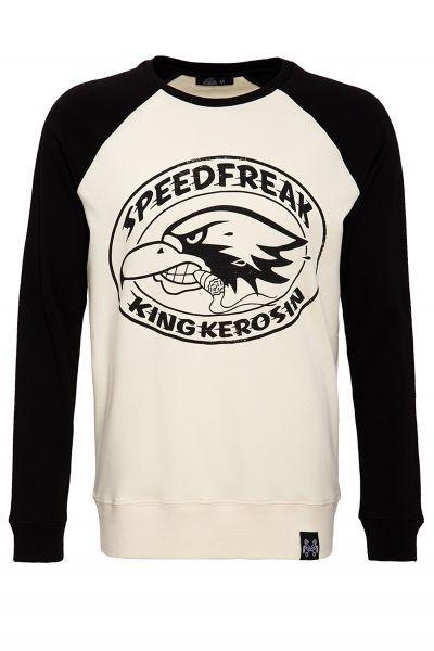 KING KEROSIN Sweater mit Raglanärmeln und Print Speedfreak