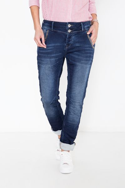 ATT JEANS Boy Fit Jeans mit Perlendetails an den Taschen Kira