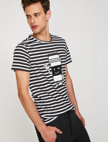 KOTON T-Shirt mit coolem Frontprint