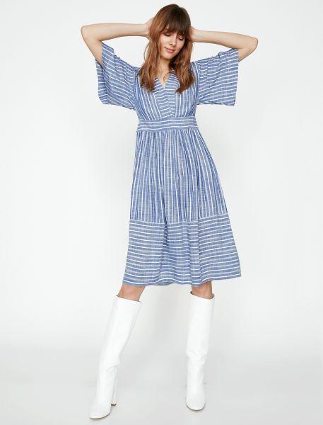KOTON Sommerkleid mit Streifenmuster