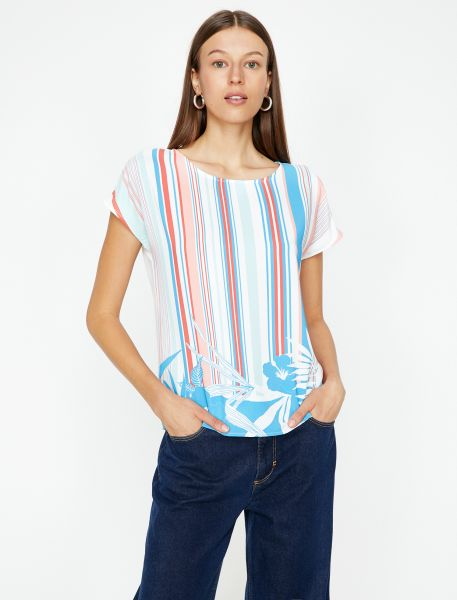 KOTON T-Shirt mit bedruckter Front