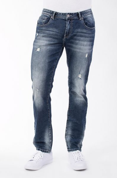 BLUE MONKEY Slim Fit Hose mit Destroy Effekten Buck 2212