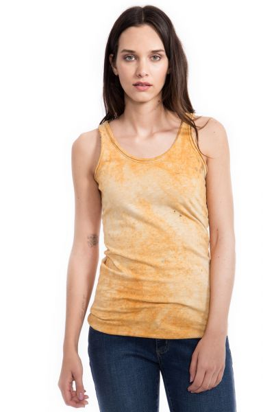 WAY OF GLORY Tanktop, Round Cool Wash mit Rundhals Ausschnitt