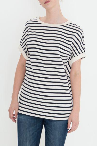 MEXX Sweatshirt im Streifenlook mit Krempelarm
