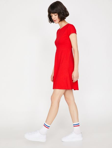 KOTON Sommerkleid mit stylischem Cut-Out