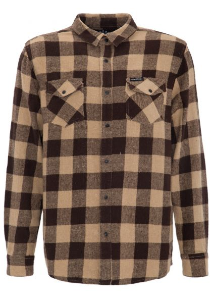 KING KEROSIN Flanell Hemd mit Vintage Druckknöpfen