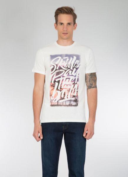 COLINS T-Shirt mit Palmen Fotoprint vorne