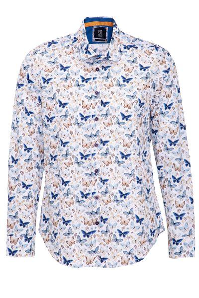 GABANO Langarmhemd mit Schmetterling-Muster