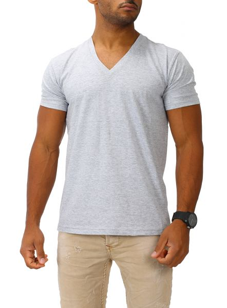 Joe Franks Herren Basic T-Shirt V-Neck