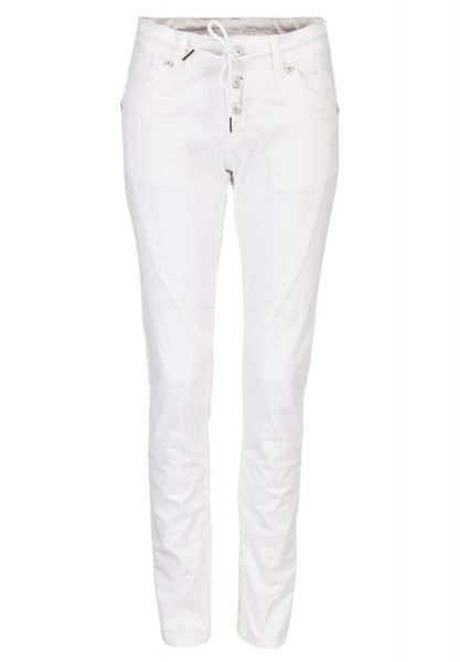 BLUE MONKEY Weiße Skinny Hose Cassy 3515