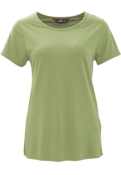 QUEEN KEROSIN Basic T-Shirt aus Viskose-Mix
