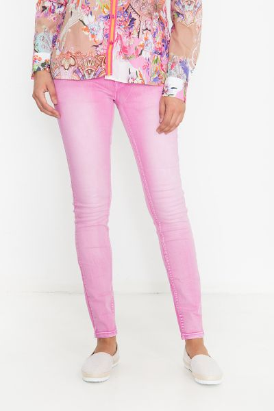 BLUE MONKEY Skinny Fit Jeans im Bleached Look Honey 1882